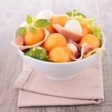 Salade de cantaloup Image stock