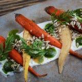 Salade de carotte images libres de droits