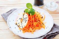 Salade de carotte avec la pomme Images libres de droits