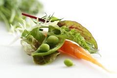 Salade de carotte et de pois Images libres de droits