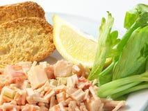 Salade de chair de crabe Photographie stock