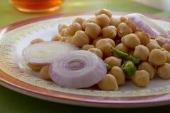 Salade de Chick Peas Photographie stock