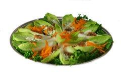 Salade de chicorée frisée e/scarole image libre de droits