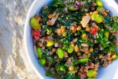 Salade de chou frisé de quinoa de régime de Paleo Images stock