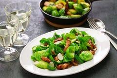 Salade de choux de bruxelles Image libre de droits