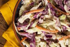 Salade de choux faite maison avec le chou et la laitue déchiquetés images stock