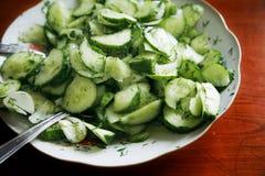 Salade de concombre Images libres de droits