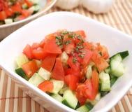 Salade de concombre photo stock