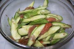 Salade de concombre Image stock