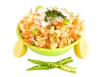 Salade de concombre et de carotte Photo libre de droits