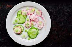 Salade de concombre et de radis Images stock