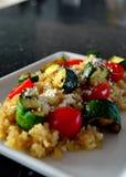 Salade de courgette et de tomate Image libre de droits