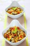 Salade de couscous avec des légumes Images libres de droits