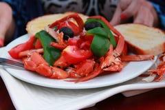 Salade de crabe Image stock