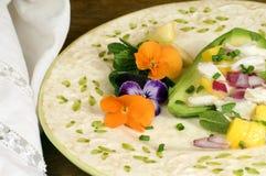 Salade de crabe avec la mangue Image libre de droits