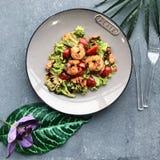 Salade de crevette photographie stock