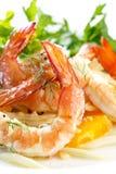 Salade de crevette et de fenouil photos libres de droits