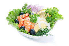 Salade de crevette rose Photo stock
