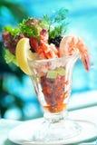 Salade de crevette rose image stock