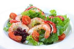 Salade de crevette rose image libre de droits