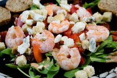 Salade de crevettes Photo stock