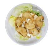Salade de crevettes roses Images libres de droits