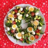 salade de fête fraîche servie d'anneau Image libre de droits