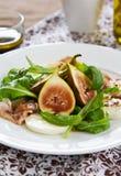 Salade de figue, de Prosciutto et de mozzarella photos stock