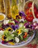 Salade de fleur de pensée Photos libres de droits