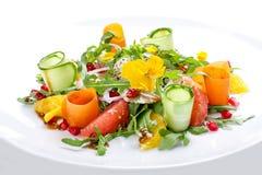 Salade de forme physique avec l'orange, le pamplemousse et la grenade image stock