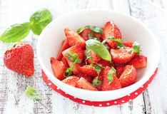 Salade de fraise Photo stock
