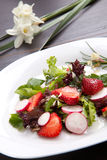 Salade de fraise de radis Photo stock