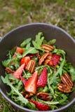 Salade de fraise de Rucola photos libres de droits