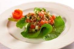 Salade de fruits avec le fruit de pepino photos libres de droits