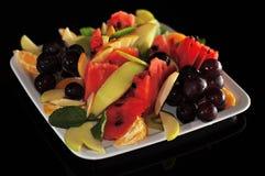 Salade de fruits d'isolement Images stock