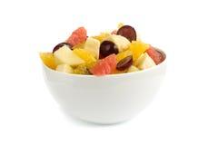 Salade de fruits d'isolement Photographie stock
