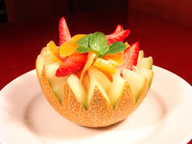 Salade de fruits de melon Images libres de droits