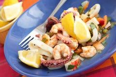 Salade de fruits de mer Images libres de droits
