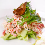 Salade de fruits de mer Photographie stock