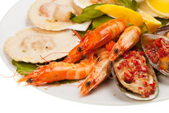 Salade de fruits de mer Photos stock