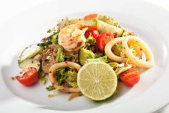 Salade de fruits de mer photographie stock