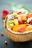 Salade de fruits exotique images libres de droits
