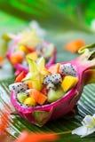 Salade de fruits exotique photographie stock libre de droits