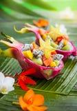 Salade de fruits exotique photographie stock