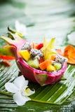Salade de fruits exotique photo stock