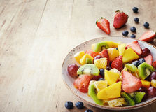 Salade de fruits fraîche Photographie stock libre de droits