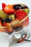 Salade de fruits pêchée Photographie stock libre de droits