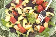 Salade de fruits saine image stock