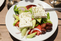 Salade de Grec de village Photo stock