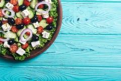 Salade de Grec de légumes frais photos stock